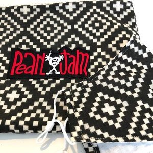 Handmade Pearl Jam Pouch and Face Mask Set